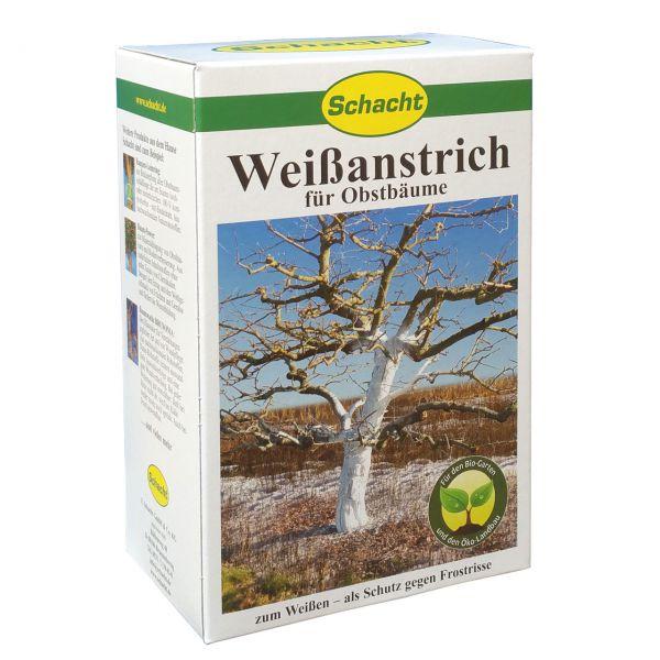 Weißanstrich Pulver 1 kg, Stammschutz vor Frostrissen