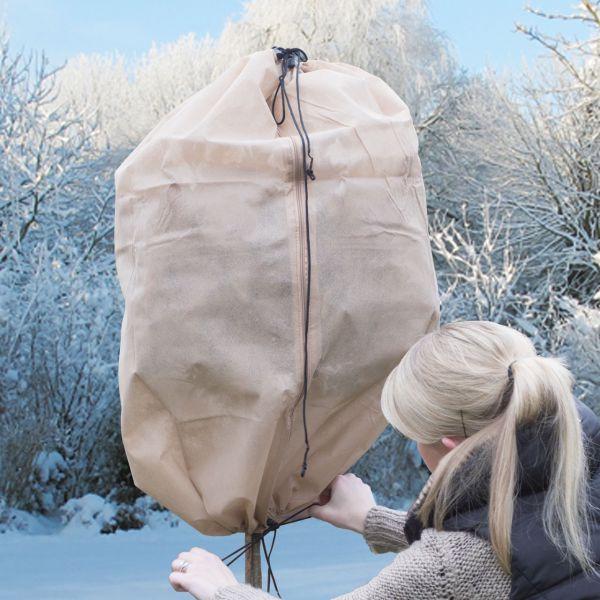 Wintervlies-Thermomantel S, Reißverschluss, beige
