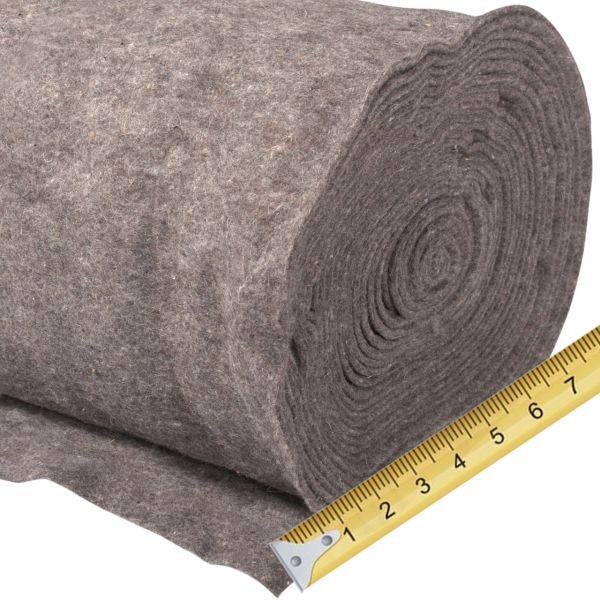 Winterschutz Schafwollmatte grau-meliert, Meterware 0,5m breit
