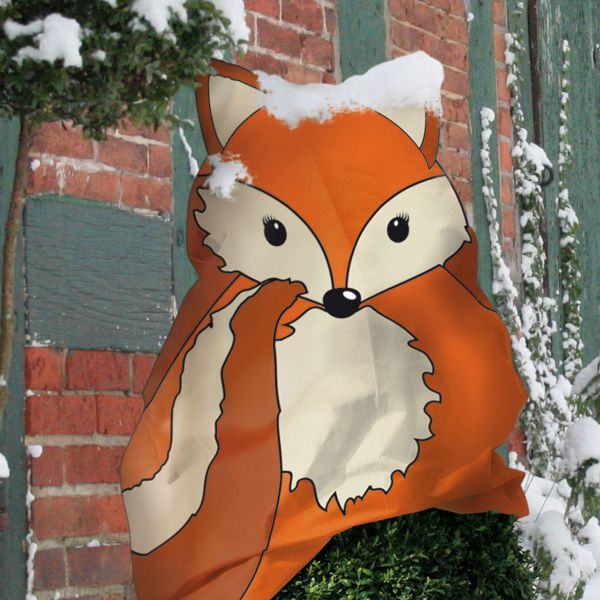 Vlieshaube Winterschutz Fuchs Freddy orange