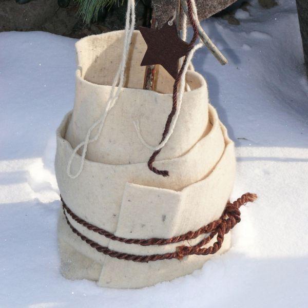 Schafwollmatte Frostschutz Pflanzen, weiß