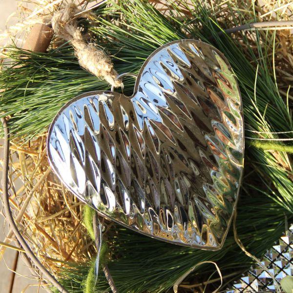 Anhänger Herz Liz 3D Struktur silber