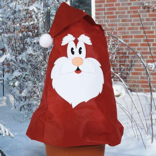 Vlieshaube Winterschutz  Weihnachtsmann Set rot