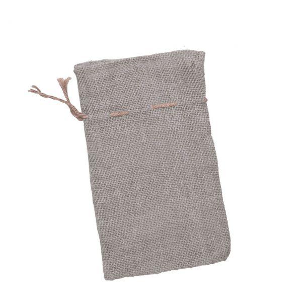 Geschenk-Jutesäckchen, grau