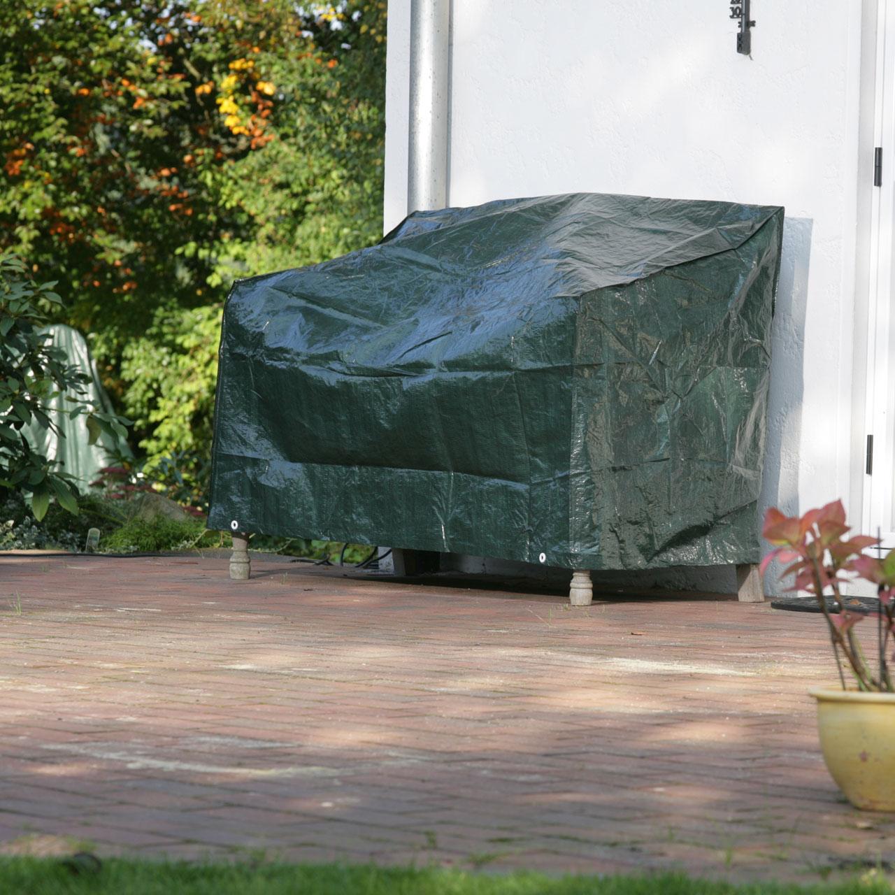 schutzhaube pe gartenbank abdeckung gr n. Black Bedroom Furniture Sets. Home Design Ideas