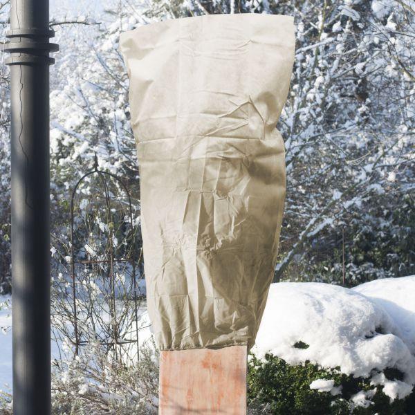 Vlieshaube groß Frostschutz, beige