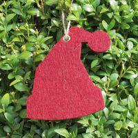 Deko-Filzanhänger Weihnachtsmütze, rot