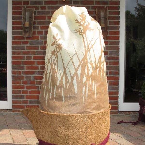 Vlieshaube Winterschutz Gräser beige-braun