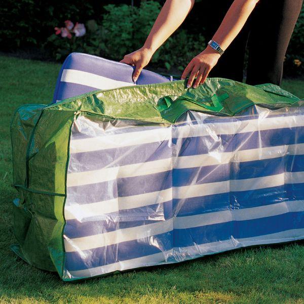 PE Tasche für Gartenmöbelauflagen grün