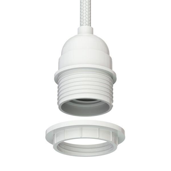 Fassung E27 für Pflanzenlampen, Textilkabel weiß