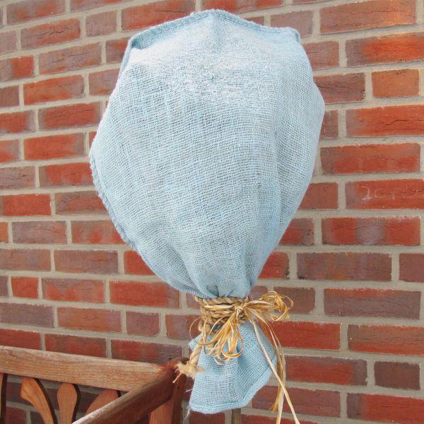 Jutesack Winterschutz eisblau