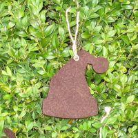 Deko-Filzanhänger Weihnachtsmütze, braun