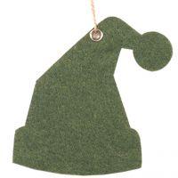 Deko-Filzanhänger Weihnachtsmütze, grün