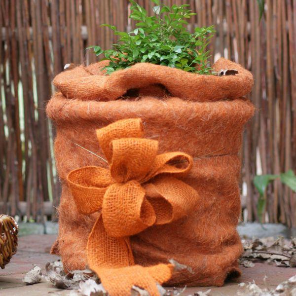 Winterschutzmatte Jute-Filz Stammschutz orange