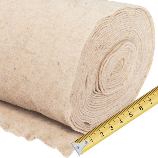 Winterschutz Schafwollmatte wollweiß, Meterware 0,5m breit