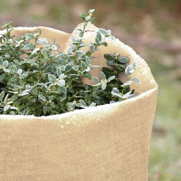 Jute-Gewebe robustes Winterschutz-Gewebe natur