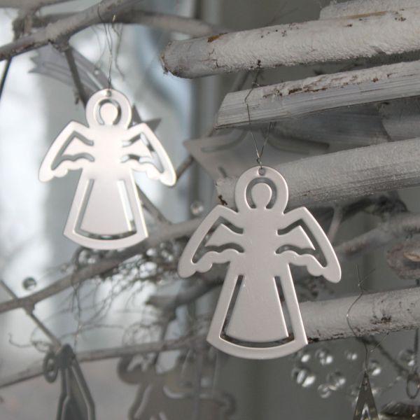 Metall-Anhänger Edelstahl Engel silber