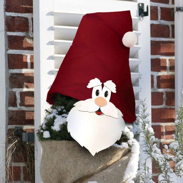 Weihnachtsmann Moosgummi Aufkleber rot