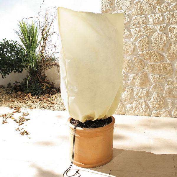 Kübelpflanzen-Vlieshaube Jumbo, beige